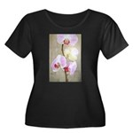 Orchid Flowers Women's Plus Size Scoop Neck Dark T
