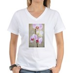 Orchid Flowers Women's V-Neck T-Shirt