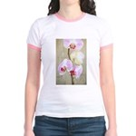 Orchid Flowers Jr. Ringer T-Shirt