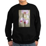 Orchid Flowers Sweatshirt (dark)