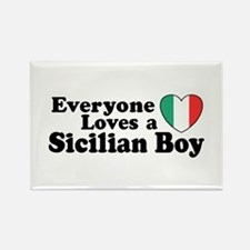 Everyone Loves a Sicilian Boy Rectangle Magnet
