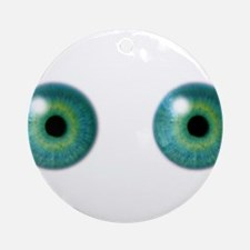 Eyeballs Round Ornament