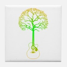 Cute Tree hugger Tile Coaster