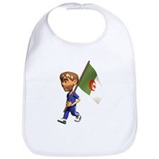 Cute 3D Algeria Flag Bib