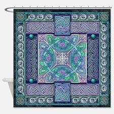 Celtic Atlantis Opal Shower Curtain