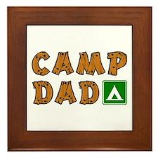 Camp Dad Framed Tile