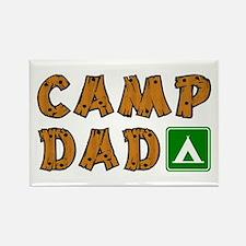 Camp Dad Rectangle Magnet