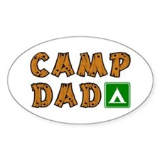 Camp Dad Oval Decal