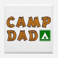 Camp Dad Tile Coaster