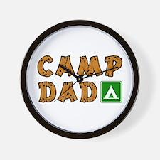 Camp Dad Wall Clock