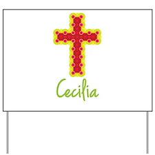 Cecilia Bubble Cross Yard Sign