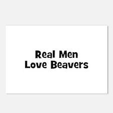 Real Men Love Beavers Postcards (Package of 8)