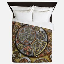 Celtic Steampunk Queen Duvet Cover