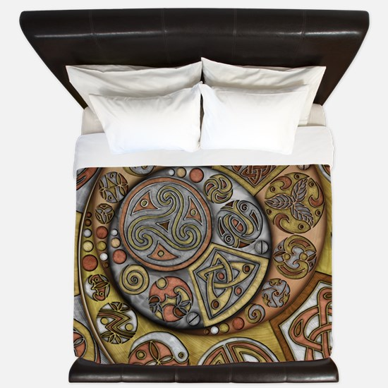 Celtic Steampunk King Duvet Cover