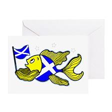 Scottish Fish Clear Greeting Card