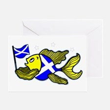 Scottish Fish Clear Greeting Card