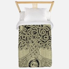 Celtic Tree of Life Ink Twin Duvet Cover