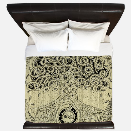 Celtic Tree of Life Ink King Duvet Cover