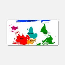 Map Aluminum License Plate