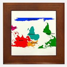 Cool Map Framed Tile
