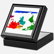 Cute Map of world Keepsake Box