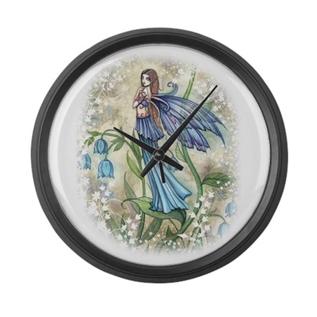 Blue Bell Fairy Large Wall Clock