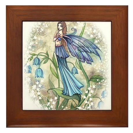 Blue Bell Fairy Framed Tile
