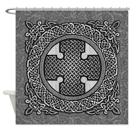 Celtic Cross Shower Curtain