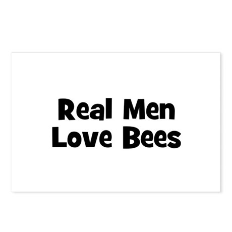 Real Men Love Bees Postcards (Package of 8)