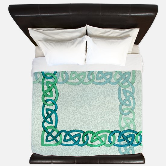 Celtic Watercolors King Duvet Cover