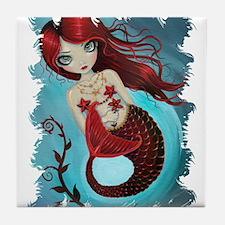 Ruby Mermaid Tile Coaster