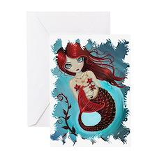 Ruby Mermaid Greeting Card