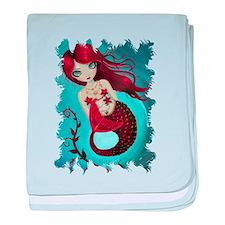 Ruby Mermaid baby blanket