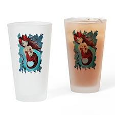 Ruby Mermaid Drinking Glass