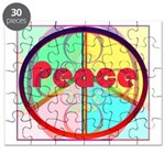 Abstract Peace Sign Puzzle