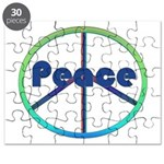 Blue / Green Peace Sign Puzzle