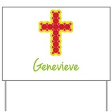 Genevieve Bubble Cross Yard Sign
