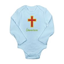 Genevieve Bubble Cross Long Sleeve Infant Bodysuit