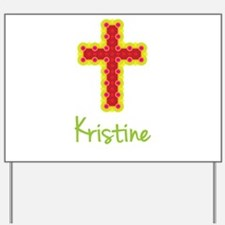 Kristine Bubble Cross Yard Sign