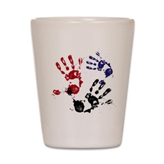 Painted Hands Shot Glass