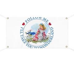 Follow Me To Wonderland Banner
