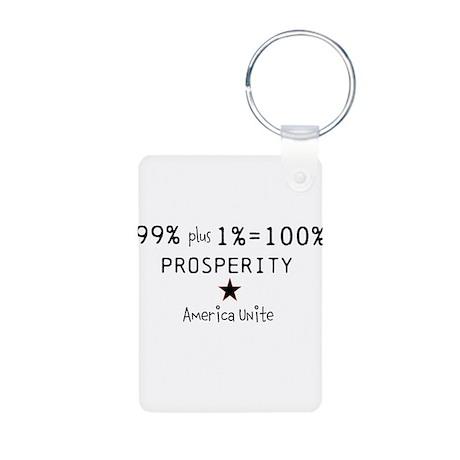 100% Prosperity Aluminum Photo Keychain
