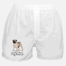 Northern Illinois Pug Rescue Boxer Shorts