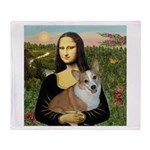 Mona - Corgi (Pembr-L) Throw Blanket