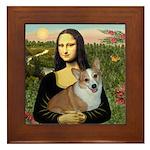 Mona - Corgi (Pembr-L) Framed Tile