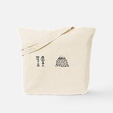 Unique Stick figure family Tote Bag