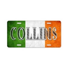 Collins Shield Aluminum License Plate