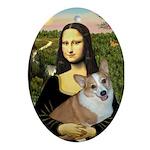 Mona - Corgi (Pembr-L) Ornament (Oval)