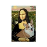 Mona - Corgi (Pembr-L) Rectangle Magnet