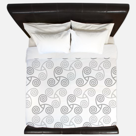 Celtic Triple Spiral King Duvet Cover
